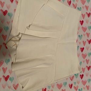 Zara size 8 white skort with ruffle